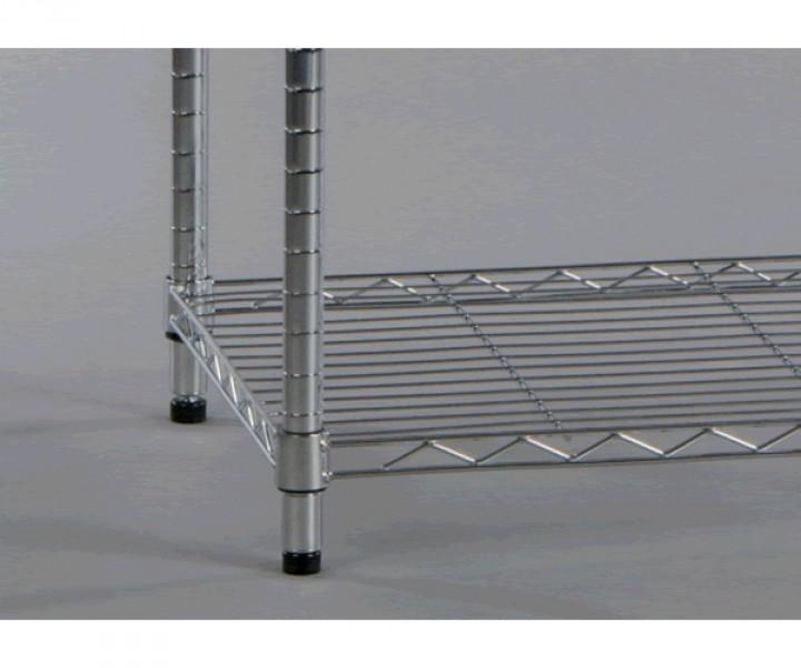 regal metallregal schuhregal b cheregal 5 b den verstellbar anna metall verchromt 90 cm breit. Black Bedroom Furniture Sets. Home Design Ideas