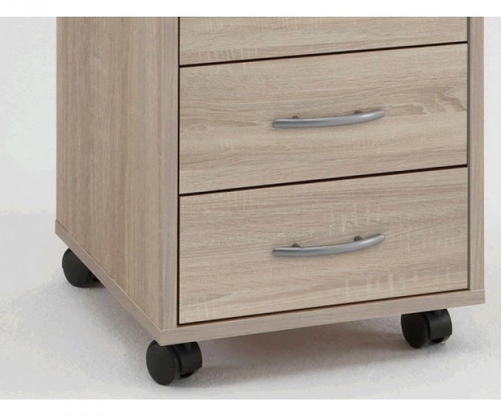 336 001 freddy eiche b rocontainer rollcontainer f r b ro als druckerwagen etc b roregale. Black Bedroom Furniture Sets. Home Design Ideas