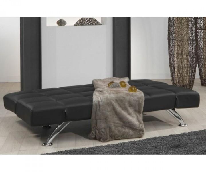 schlafsofa bettsofa kippsofa sofa 3 sitzer schwarz kunstleder plaza schlafsofas jugendzimmer. Black Bedroom Furniture Sets. Home Design Ideas