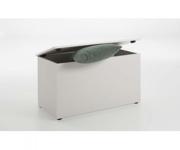 sitztruhe spielzeugkiste truhe kiste mit deckel sitzbank 651 002 hocki 2 weiss kommoden. Black Bedroom Furniture Sets. Home Design Ideas