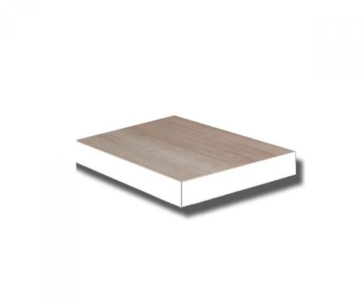 Te30e w steckboard eiche s gerau dekor mit kante weiss wandboard h ngeregal wandregal 30 cm - Wandregal 30 cm breit ...