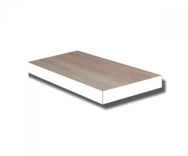 te40e w steckboard eiche s gerau dekor mit kante weiss wandboard h ngeregal wandregal 40 cm. Black Bedroom Furniture Sets. Home Design Ideas