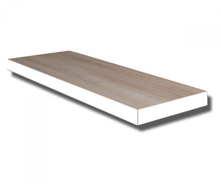 te70e w steckboard eiche s gerau dekor mit kante weiss wandboard h ngeregal wandregal 70 cm. Black Bedroom Furniture Sets. Home Design Ideas